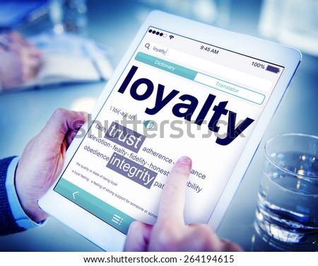 Digital Online Dictionary Meaning Loyalty Concept - stock photo