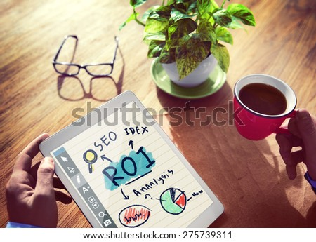 Digital Online Return On Investment Financial Issues Concept - stock photo