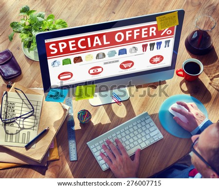 Digital Online Shopping E-Commerce Purchase Buying Browsing Concept - stock photo