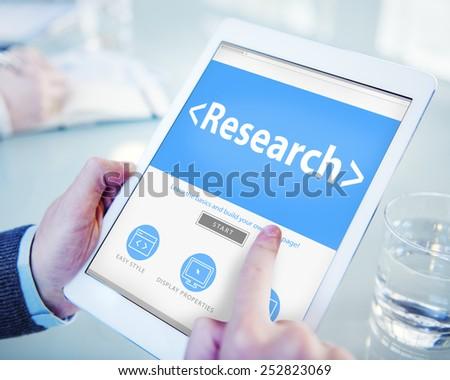 Digital Online Website Research Concept - stock photo
