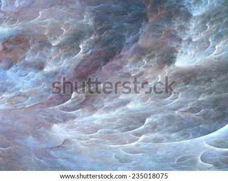Digital paint from fractal canvas background - stock photo