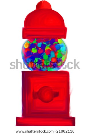 Digital paint gum ball machine