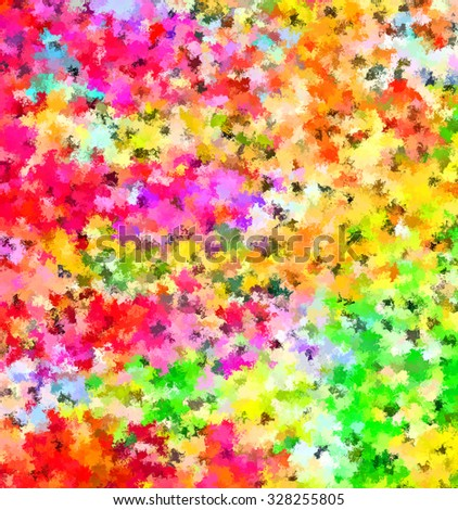 Digital Painting Beautiful Multi-Color Water Color Spatter Paint Abstract Floral Fields in Colorful Soft Pastel Colors Background  - stock photo