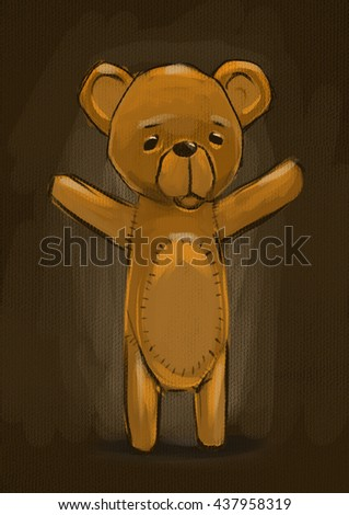 Digital painting Teddy bear