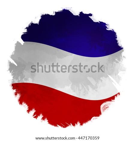 Digital Panting effect flag of France - stock photo