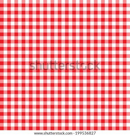 Digital Paper Scrapbook Red Gingham Pattern Stock Illustration
