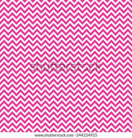 Digital Paper for Scrapbooking Bright Pink Chevron Pattern seamless