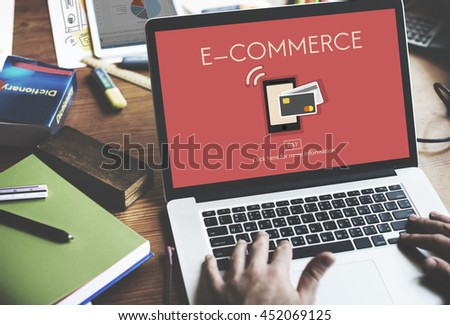 Digital Payment E-commerce Shopping Online Concept - stock photo