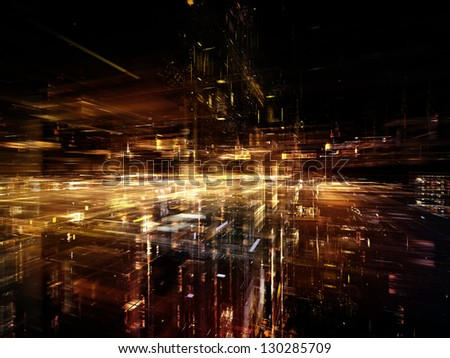 Digital Perspectives series. Background design of light grids and fractal elements on the subject of business, science, education and technology - stock photo
