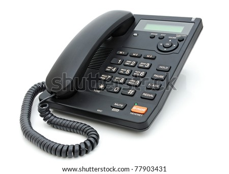 Digital phone isolated on the white background - stock photo