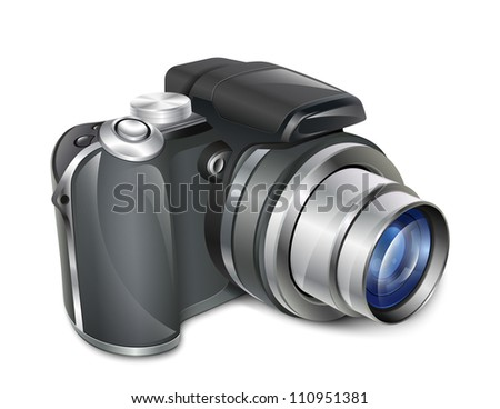 Digital photo camera - stock photo