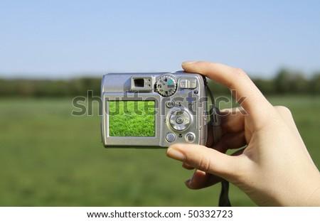 Digital photography landscape - stock photo
