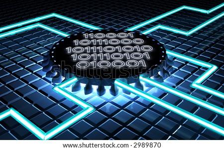 digital processor - stock photo