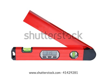 digital red level isolated over white background - stock photo