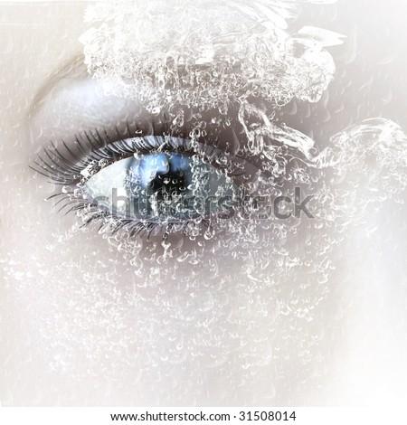digital rendering of an eye - stock photo