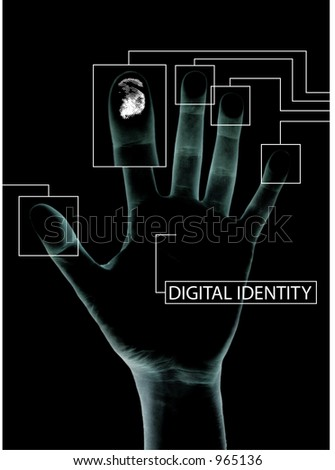 Digital security - stock photo