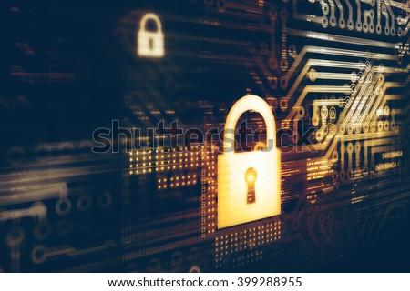 Digital security concept - stock photo