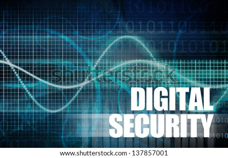 Digital Security Industry through Online Data Art - stock photo