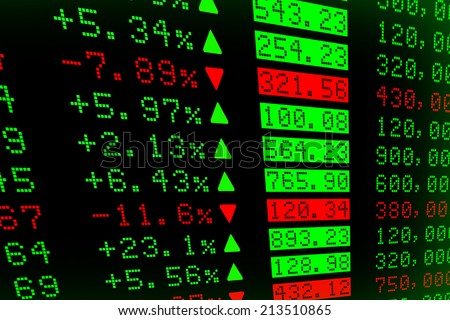 Digital Stock exchange panel - stock photo