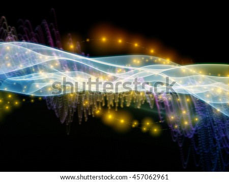Digital Stream series. Abstract design made of sine waves and lights on the subject of science, technology and education