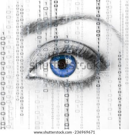 Digital Surveillance - stock photo