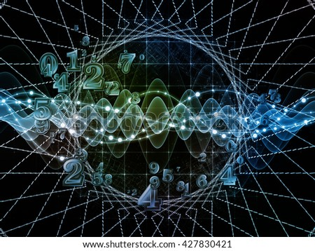 Digital Swirl series. Arrangement of digits and technological patterns on the subject of math, science and education - stock photo