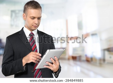 Digital Tablet, Business, Businessman.
