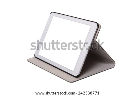 Digital tablet computer with isolated screen - stock photo