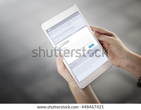 Digital Tablet Device Concept - stock photo