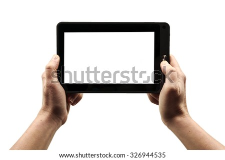 Digital tablet isolated on a white background