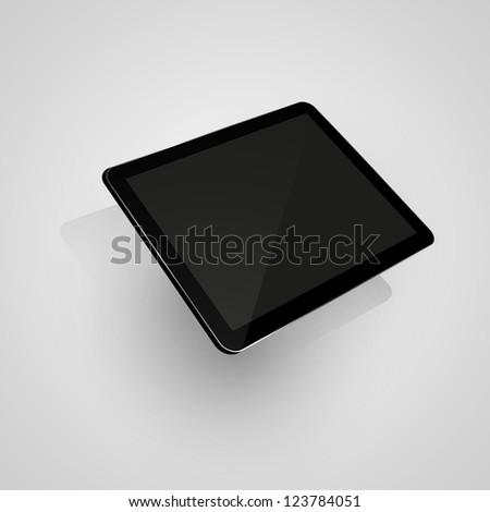 Digital tablet. Isolated on white,  illustration - stock photo