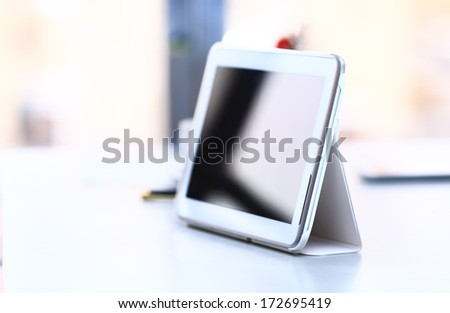 Digital tablet. Modern device for business and work. - stock photo