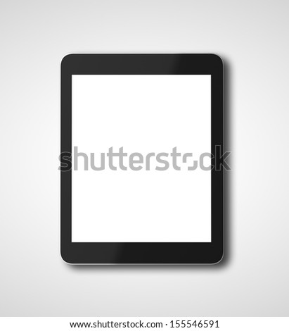 digital tablet  on a white background - stock photo