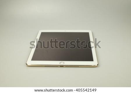 Digital tablet on white background - stock photo
