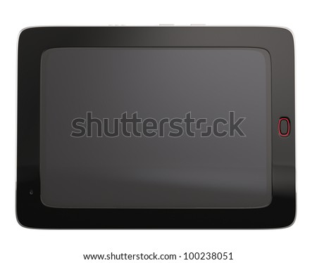 digital tablet pc isolated on white background. 3d rendered image