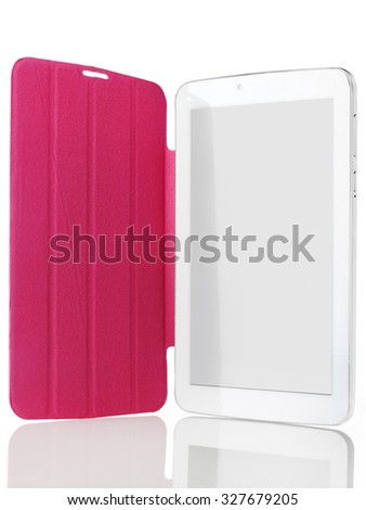 Digital tablet with case - stock photo