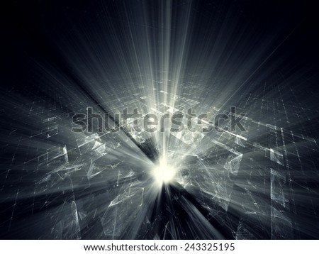 Digital technology abstract background design - stock photo