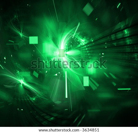 Digital Technology Explosion - stock photo
