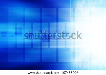 digital technology on blue background.