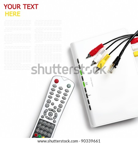 Digital TV on white background (with sample text) - stock photo