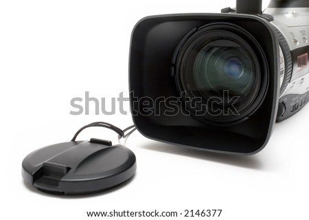 Digital Video Camera (Detail Front View) - stock photo