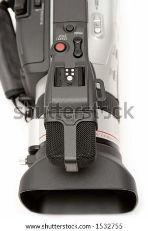 Digital Video Camera (Detail Top View) - stock photo