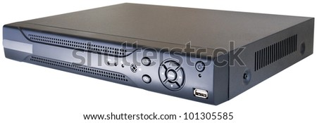 Digital video recorder isolated on the white