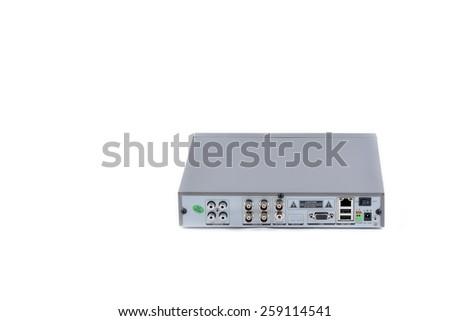 Digital Video Recorder on white background - stock photo