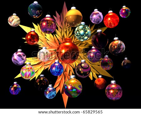 digital visualization of christmas decoration