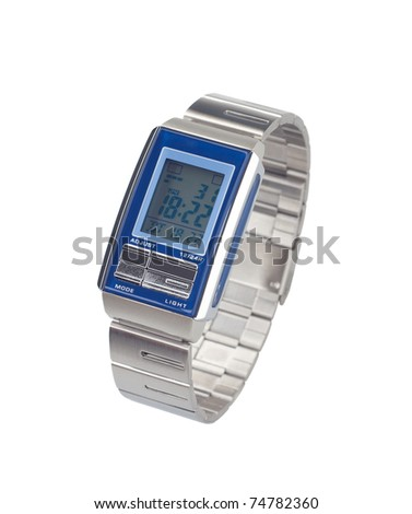 Digital watch in modern style - stock photo