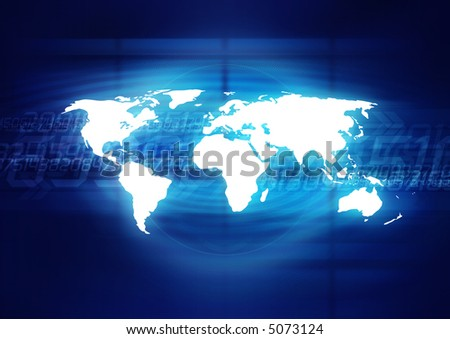 Digital World - stock photo