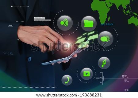 Digital world concept - stock photo