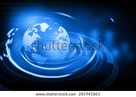 Digital world , global internet technology	 - stock photo