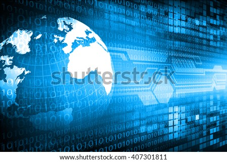 Digital world , global internet technology	 3d - stock photo